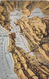 San Francisco Area San Francisco, California, USA Maps 1923