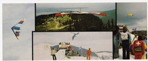 Hang Gliding & Skiing , Grouse Mt.  , VANCOUVER , B.C. , Canada , 50-60s