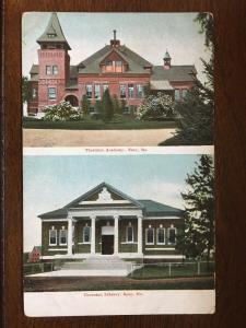 Thornton Academy and Library, Saco, Maine ME Postcard D10