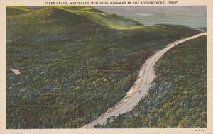 Steep Grade on Highway - Whiteface Mountain - Adirondacks, New York - Linen