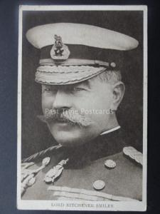 WW1 LORD KITCHENER SMILES - Old Postcard by Photochrom Co.