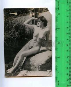 213193 RUSSIA nude girl on the rocks photo miniature card