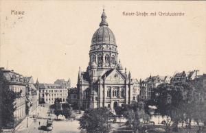 MAINZ, Rhineland-Palatinate, Germany, 1900-1910´s; Kaiser StraBe Mit Christu...