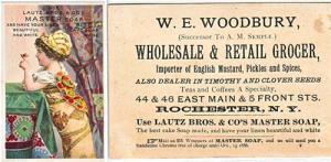 TRADE CARD - Lautz Bro's & Co. Rochester NY