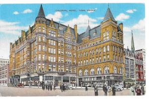 York PA Colonial Hotel Continental Square Vintage Postcard