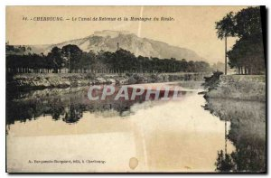 Old Postcard Cherbourg the Hold Channel and the Mountain Road