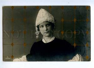 194016 Rural Young Girl BELLE in Bonnet Vintage PHOTO 1906 PC