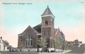 Herington Kansas~Presbyterian Church~Neighborhood Houses~1910 Postcard
