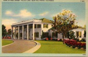 California Hollywood Toluca Lake Home Of Bing Crosby