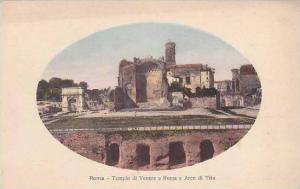 Italy Roma Rome Tempio di Venere e Roma e Arco di Tito