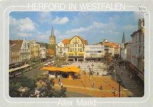 Herford in Westfalen Alter Markt, Street Shops Market Place Church Kriche