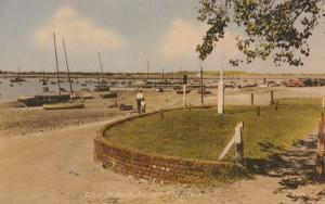 West Mersea Essex The Hard 1960s Postcard Man Child View Boats Postmark Postcard