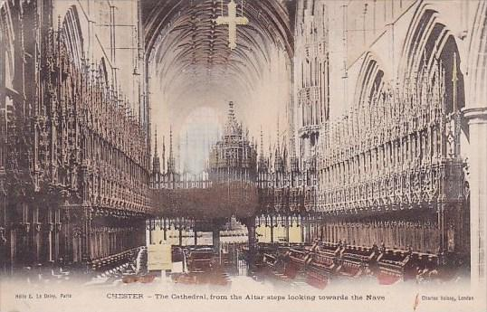 Chester The Cathedral From The Altar Steps Looking Towards The NaveCharles Vo...