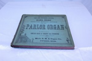 1880 Copyright Hardcover Parlor Organ Teaching Course Book