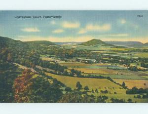 Linen RUSTIC SCENE Conyngham Valley Pennsylvania PA hk3718