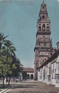 Patio de los Naranjos y Torre de la Catedral, Cathedral Tower, Cordoba, Andal...