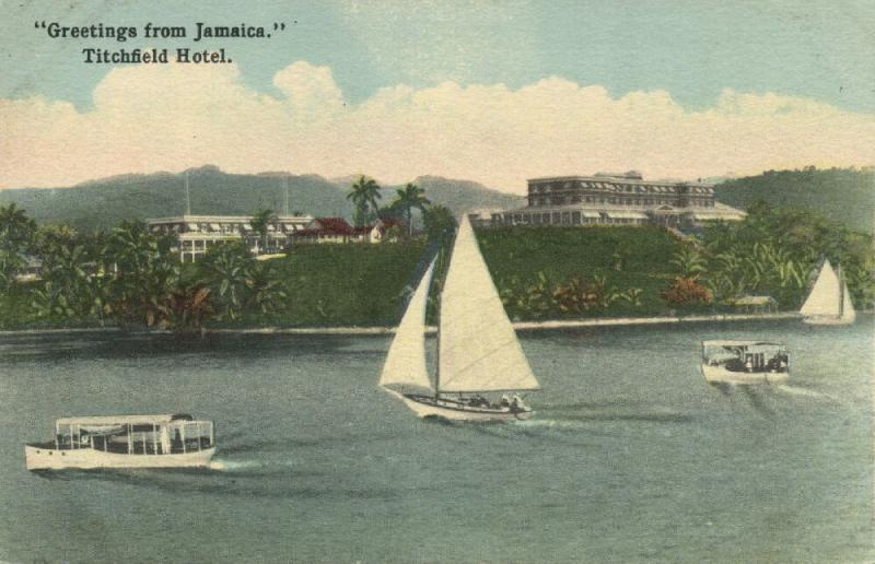 jamaica, PORT ANTONIO, Titchfield Hotel (1930s)