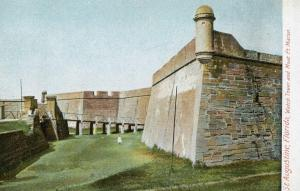 FL - St Augustine, Fort Marion Watchtower and Moat