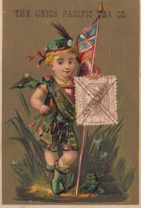 TC ; Union Pacific Tea Co. , 1890s ; Boy & stamp