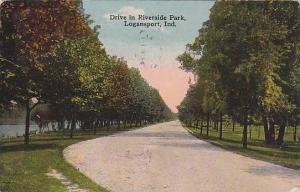 Drive in Riverside Park, Logansport, Indiana, PU-1916