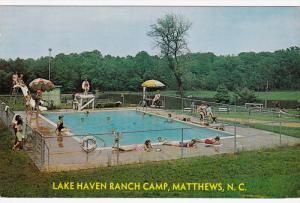 Swimming Pool, Lake Haven Ranch Camp, MATTHEWS, North Carolina, PU-1963