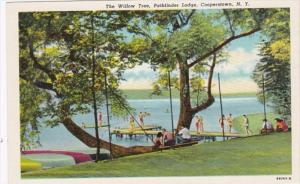 New York Cooperstown The Willow Tree At Pathfinder Lodge Cooper Curteich