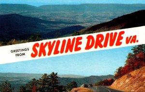 Virginia Greetings From Skyline Drive