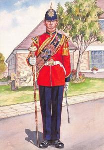 Postcard Drum Major 5th Battalion Princess of Wales Royal Regiment 1993 #33-7