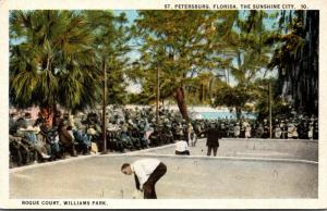 Florida St Petersburg Williams Park Roque Court 1924 Curteich