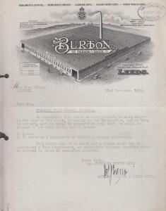 Burton Tailors Leeds Yorkshire High Street Lincoln House To Sale Letter Ephemera
