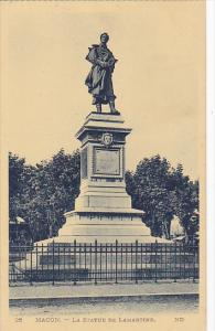 France Macon La Statue De Lamartine 1952