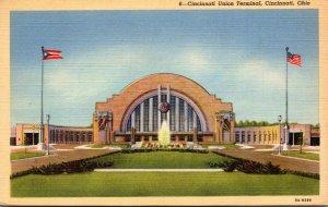 Ohio Cincinnati Union Terminal 1942 Curteich