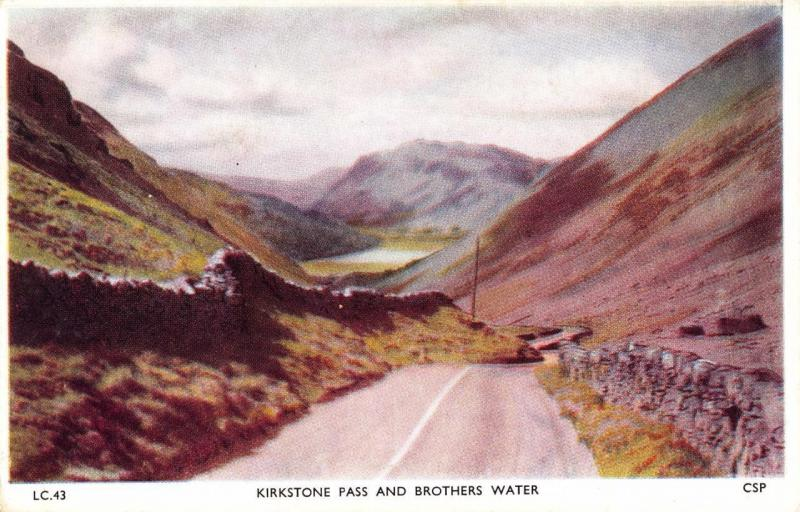 Vintage Postcard Kirkstone Pass & Brothers Water LAKE DISTRICT Cumbria