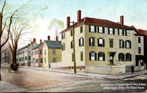 Maine Portland Greetings Showing Birthplaces Of Longfellow and Thomas B Reed ...
