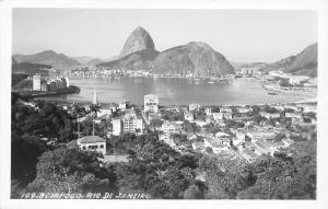 Brazil South America~Rio de Janeiro~Botafogo Panorama~Hotels~Homes~1950s RPPC