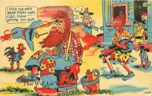Comic Humor Hillbilly Ray Walters Teich #C-694 1948 Postcard linen 21-6846