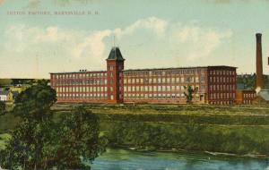 Cotton Factory along Nashwaak River Marysville NB New Brunswick Canada pm 1910