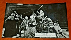 Canada, Stratford 1965 Shakespearean Festival Falstaff Postcard RPPC Theater