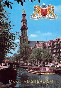 Netherlands Mooi Amsterdam Westertoren River Boats Bateaux Voitures Cars