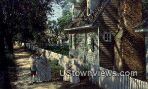 A Sidewalk Scene - Williamsburg, Virginia
