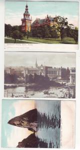 P379 JL postcard 3 old sweden county home, stockholm , skane the sugarloaf
