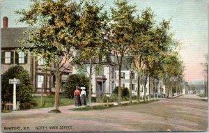 Newport New Hampshire~Victorian Ladies on North Main Street @ Belknap Avenue~'07
