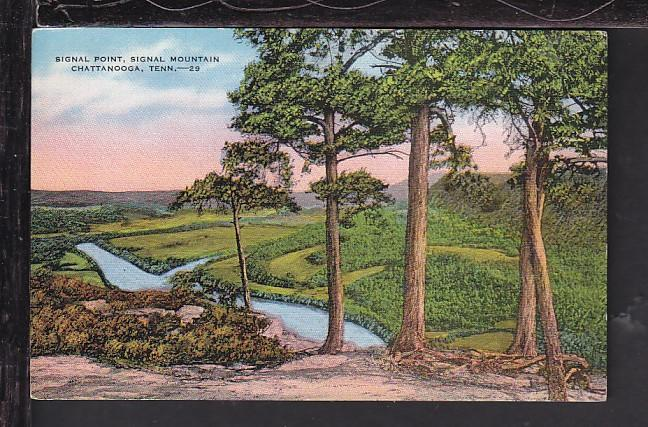 Signal Point,Signal Mountain,Chattanooga,TN Postcard