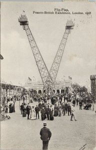 Flip-Flap Franco-British Exhibition 1908 Valentine & Sons Postcard G58
