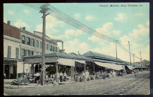 French Market New Orleans LA unused 1910's