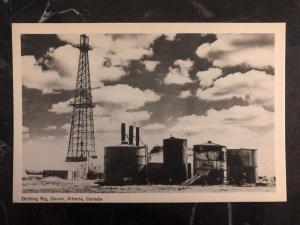 Mint Devon Alberta Canada RPPC Postcard Drilling Ring