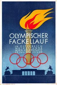 1936 Summer Olympics Torch Relay Postal Used Berlin Vintage Postcard JD228180
