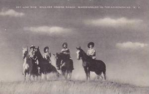 New York Warrensburg-In-The-Adirondacks Sky Line Ride Boulder Greens Ranch Ar...