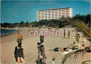 Modern Postcard Republic of Senegal N Gor Gor Beach N the Palace Hotel Aeriens