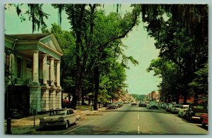 Marion South Carolina~Main Street~County Court House~Spanish Moss~1950s Cars